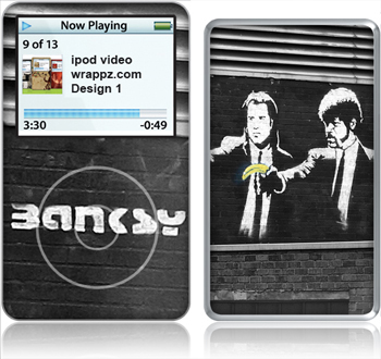 Banksy Pulp Fiction Skin for iPod Video