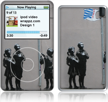 Banksy Tesco ipod Video Skin