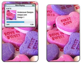 Pink Sweet Nothings iPod Skins
