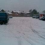 Snow hits Leicestershire