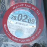 Go fix some potholes tax disc