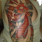 Dragon Tattoo phase three, inked at Real Art Tattoo Syston